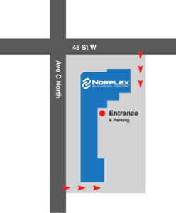 Entrance & Parking at Norplex Business Centre